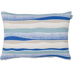Happy Cobalt Cushion ($26) ❤ liked on Polyvore featuring home, home decor, throw pillows, cobalt blue throw pillows, patterned throw pillows, cobalt blue home decor, cobalt blue home accessories and spira
