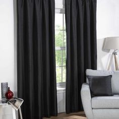 Sophia Ready Made Faux Silk Blackout Curtains
