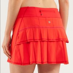 Rare Lululemon pacesetter skirt tomato red Like new Lululemon pacesetter skirt size 4. Discontinued get it now  lululemon athletica Skirts Mini