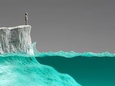 """""""The Observer"""": a concrete, glass, and bronze sculpture by Ben Young."""