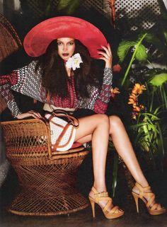 visual optimism; fashion editorials, shows, campaigns & more!: jardim tropical: lais ribeiro by renam christofoletti for vogue brazil july 2...