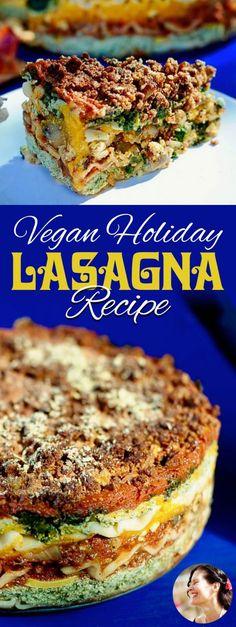 Vegan Lasagna Recipe for the Holidays via @SunnysideHanne