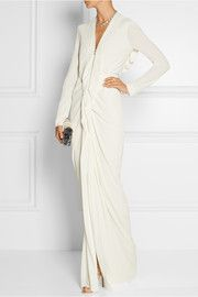 Roland MouretCompeyson open-back stretch-crepe gown