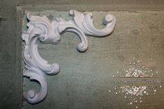 """4 Furniture Applique / Corner Appliques / by RejuvenatedCreations, $25.99 Measurements: 6.25"""" wide 4.75"""" height 3.5"""" at mid-point (see pictures, this is a chunky corner piece and used for larger pieces)"""