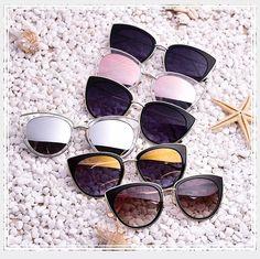 ae658e1f39ca3 AOFLY Metal Frame Cat Eye Women Sunglasses Female Sunglasses Famous Brand  Designer Alloy Legs Glasses oculos