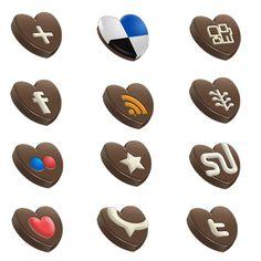 Chocolate Social Media Icons