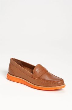 Love the orange - Cole Haan 'LunarGrand Monroe' Penny Loafer (Women) available at #Nordstrom