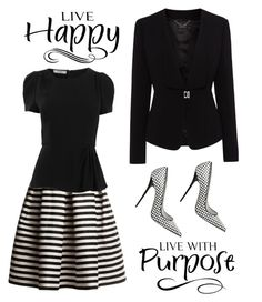 """""""Live Happy. ...Live With Purpose"""" by conch-lady ❤ liked on Polyvore featuring Rumour London, Karen Millen, Jeffrey Campbell and Prada"""