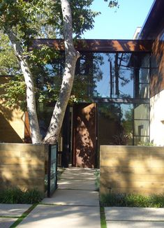 Carmelina Residence Contemporary Entryway by Studio William Hefner