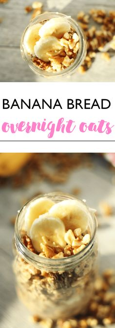 Banana Bread Overnight Oats | Lean, Clean, & Brie