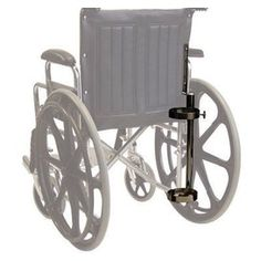 John Bunn Wheelchair Oxygen Carrier.  Oxygen tank is adjustable, and is designed to hold a D or E cylinder.