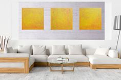 Acrylic Painting Canvas, Abstract Paintings, Falling Stars, Dark Interiors, Shades Of Yellow, Triptych, Abstract Styles, Texture Painting, Neon Colors