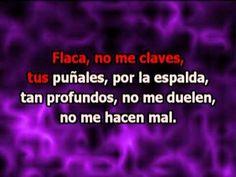 Andrés Calamaro - Flaca (con letra karaoke) - YouTube