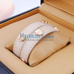 Cartier love bracelet beige leather pink gold screws - $80.00 : High Quality Cartier Replica Watches, Fake Cartier Jewellery And Sunglasses In The MaxxWatch.com For Sale