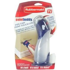 rubbermaid paint buddies. put your leftover paint in them and retouch anytime you want.- need to try and find this!!