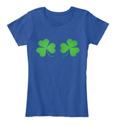 St Patrick's Day Shirt Kiss Me I'm Irish Deep Royal  T-Shirt Nữ Front