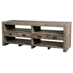 "Mariposa Media Console   Mixed Reclaimed Woods  70"" W x 19"" D x 26"" H  Finish/Color(s): Rustic Natural"