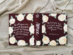 Hand Painted Bible Rosè by InHisNameCo on Etsy
