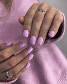 Lilac Nails, Blue Acrylic Nails, Yellow Nails, Cute Gel Nails, Short Gel Nails, Pretty Nails, Acryl Nails, Subtle Nails, May Nails