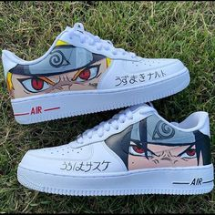 Anime Inspired Outfits, Anime Outfits, Custom Sneakers, Custom Shoes, Naruto Shoes, Nike Air Shoes, Sneakers Nike, Mode Kpop, Naruto Cute