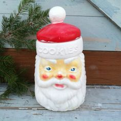 Retro Santa Claus cookie jar by Empire plastic by happydayantiques, $24.50