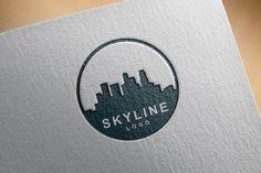 City Building Skyline Logo 3 Version by jongcreative Skyline Logo, Skyline Design, Logo Design Template, Logo Templates, 3 Letter Logo, Building Logo, Real Estate Logo Design, City Logo, City Buildings