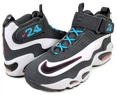 NIKE AIR GRIFFEY MAX 1 WHITE/BLACK-ANTHRACITE-TURQUOISE BLUE/PINK FLASH #sneaker