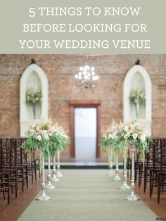 5 Things To Know Before Looking For Your Wedding Venue