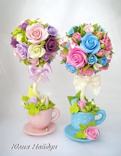 Discover thousands of images about Little Bird Ateliê: Festa Jardim das Borboletas da Duda Floating Tea Cup, Teacup Crafts, Diy And Crafts, Arts And Crafts, Diy Y Manualidades, Deco Floral, Candy Bouquet, Decoration Table, Flower Crafts