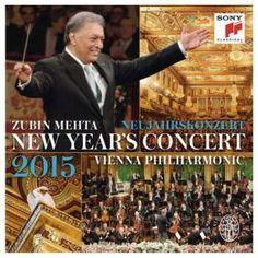 Wiener Philharmoniker - Neujahrskonzert/New Year's Concert 2015 Cd Cover, Album Covers, Vienna New Year Concert, Johann Strauss, Zubin Mehta, Wiener Philharmoniker, Vienna Philharmonic, The Verve, Blu Ray