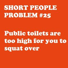 Oh my word! Yes! I HAVE to sit on toilets...I don't have the luxury of squatting...lol!