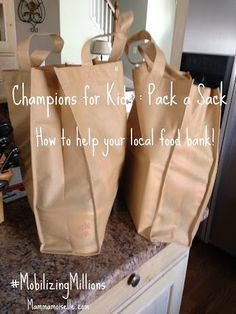 How you can easily help a local food bank- SIMPLE service project idea! #CBias,#MobilizingMillions