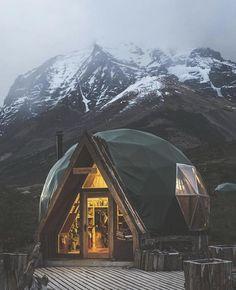 Patagonya'da bir ev.