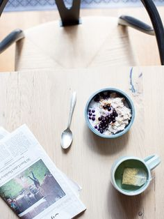 coconut buckwheat + wild blueberries + granola | what's cooking good looking