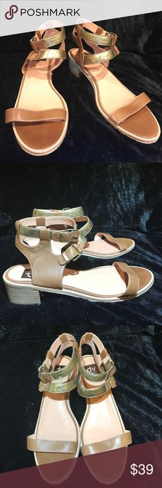 Dolce Vita Ankle Strap Sandals Dolce Vita Sandals. Double ankle strap with block heel. Size 11. Excellent Condition. Perfect for Spring with neutral colors that match with every outfit! Dolce Vita Shoes Sandals