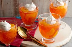 Sparkling Mandarin-Orange Dessert (4 PP). I bet it would be even healthier with light Cool Whip instead of regular.