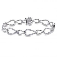 Luxurious Women's Diamond Alternating Accents Fashion Bracelet Impressive 14k White Gold (1.19ct). Free insured shipping with every order. Free one year warranty and easy 30-day return policy. Allurez jewelry comes packaged in an attractive jewelry box or pouch. Allurez works with trusted diamond and jewelry suppliers for untreated, conflict-free, and natural gemstones. Made in the USA.