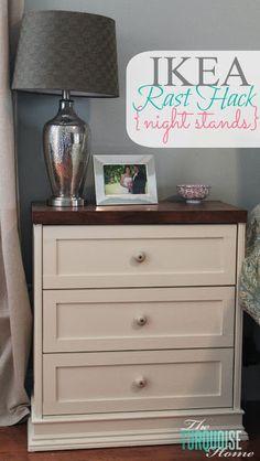 IKEA Rast Hack {new nightstands} - IKEA Hackers ter inspiratie voor nachtkastje en dressoir op slaapkamer :-)