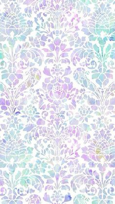 Pastel Damask Wallpaper