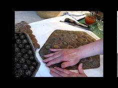 Finishing and Ageing Penny Rugs - YouTube