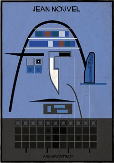 ~  Jean Nouvel Archi portrait by Federico Babina #architecture #architect #icons