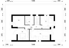 Rzut NA FX-26 CE Lany, Floor Plans, Diagram, House, Haus, Homes, Floor Plan Drawing, Houses, House Floor Plans