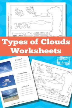 Types of Clouds Worksheets - Itsy Bitsy Fun Free Printable Types of Clouds Worksheets 4th Grade Science, Elementary Science, Science Classroom, Science Fair, Science Lessons, Teaching Science, Science For Kids, Earth Science, Science Education