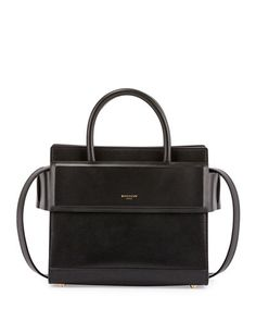 L63B4 Givenchy Horizon Small Leather Tote Bag