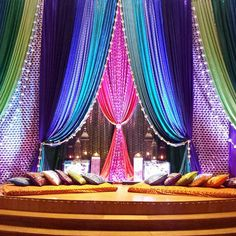 Mehndi Collection Desi Wedding Decor, Wedding Hall Decorations, Backdrop Decorations, Moroccan Theme, Moroccan Wedding, Mehndi Stage, Pakistani Mehndi Decor, Mehendi Night, Henna Night