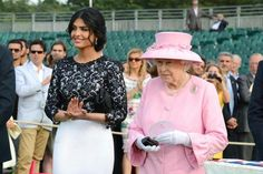 His Majesty The Queen Elizabeth II with His Highness Ameerah Al Taweel Princess of Saudi Arabia