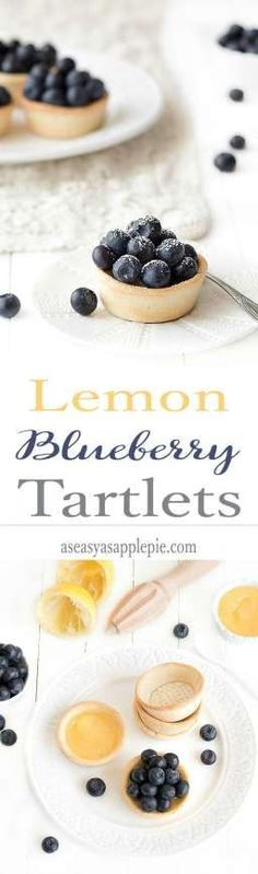 These lemon blueberry tartlets are simply divine! Buttery and crumbly pâte sablée shells are filled with a creamy, butterless lemon curd and topped with juicy fresh blueberries.