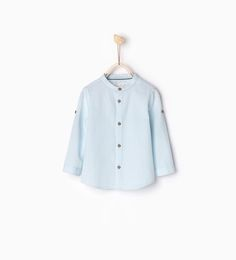 Shirt with roll-up sleeves-SHIRTS-BABY BOY | 3 months-3 years-KIDS | ZARA United States
