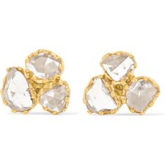 Pippa Small 18-karat gold diamond earrings (147.460 RUB) ❤ liked on Polyvore featuring jewelry, earrings, gold, sparkly earrings, diamond earring jewelry, 18 karat gold earrings, diamond fine jewelry and 18k jewelry