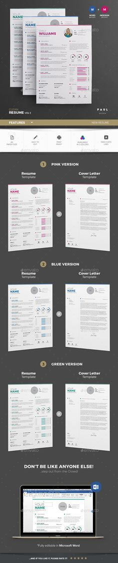 Resume Template InDesign INDD u2026 Pinteresu2026 - resume template indesign